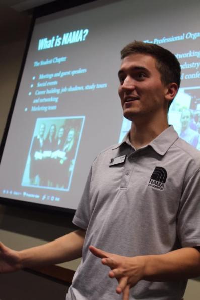 Presenting at a NAMA meeting.